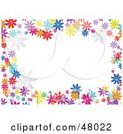 Royalty Free RF Clipart Illustration Of A Colorful Stationery Border Of Daisy Flowers On White