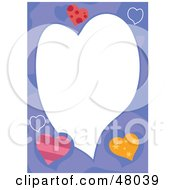 Royalty Free RF Clipart Illustration Of A Purple Stationery Border Of Hearts by Prawny
