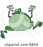Green Jumping Frog Clipart