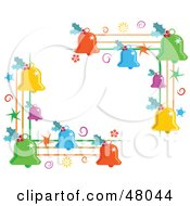 Royalty Free RF Clipart Illustration Of Colorful Christmas Jingle Bells Corner Designs by Prawny