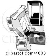 Bobcat CompactMini Hydraulic Excavator Clipart by djart #COLLC4806-0006