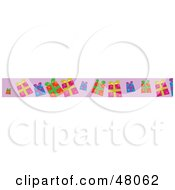 Royalty Free RF Clipart Illustration Of A Border Of Presents On Purple