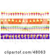 Digital Collage Of Ice Cream Cone Borders