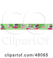 Royalty Free RF Clipart Illustration Of A Border Of Spilled Soda Cans On Green