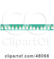 Royalty Free RF Clipart Illustration Of A Border Of Snowmen On Green