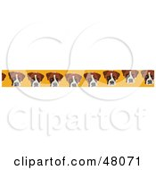 Border Of Dog Faces On Yellow