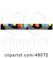 Royalty Free RF Clipart Illustration Of A Border Of Colorful Party Balloons On Black