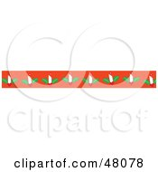 Royalty Free RF Clipart Illustration Of A Border Of Christmas Candles On Orange