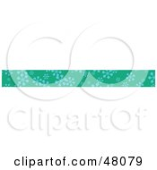 Royalty Free RF Clipart Illustration Of A Border Of Snowflakes On Green