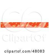 Border Of Conch Shells On Orange