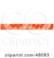 Royalty Free RF Clipart Illustration Of A Border Of Conch Shells On Orange