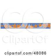 Royalty Free RF Clipart Illustration Of A Border Of Happy Starfish On Blue by Prawny