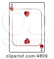 Two2 Of Hearts Playing Card Clipart