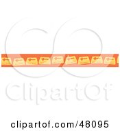 Royalty Free RF Clipart Illustration Of A Border Of Orange Holy Bibles
