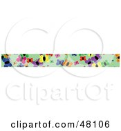 Royalty Free RF Clipart Illustration Of A Border Of Colorful Butterflies by Prawny
