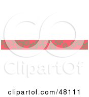 Royalty Free RF Clipart Illustration Of A Border Of Green Flowers On Pink