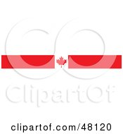 Royalty Free RF Clipart Illustration Of A Border Of A Canadian Maple Leaf Flag