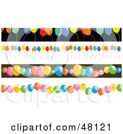 Digital Collage Of Party Balloon Borders