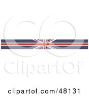 Royalty Free RF Clipart Illustration Of A Border Of A Union Jack Flag by Prawny