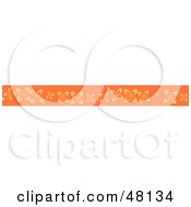 Royalty Free RF Clipart Illustration Of A Border Of Orange Flowers