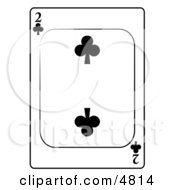 Two2 Of Clubs Playing Card