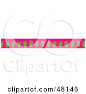 Royalty Free RF Clipart Illustration Of A Border Of Green Hands On Pink by Prawny
