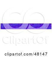 Royalty Free RF Clipart Illustration Of A Border Of Blue Flowers On Purple