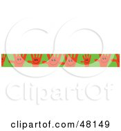 Royalty Free RF Clipart Illustration Of A Border Of Orange Hands On Green by Prawny