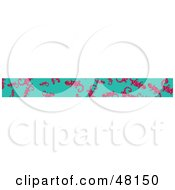 Royalty Free RF Clipart Illustration Of A Border Of Pink Salamanders On Turquoise