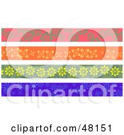 Royalty Free RF Clipart Illustration Of A Digital Collage Of Floral Borders by Prawny