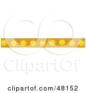 Royalty Free RF Clipart Illustration Of A Border Of Happy Suns On Orange