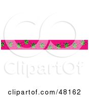 Royalty Free RF Clipart Illustration Of A Border Of Green Ladybugs On Pink by Prawny
