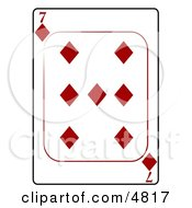 Seven7 Of Diamonds Playing Card
