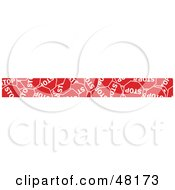 Royalty Free RF Clipart Illustration Of A Border Of Stop Signs