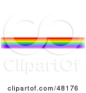 Royalty Free RF Clipart Illustration Of A Border Of Rainbow Lines by Prawny
