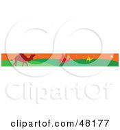 Royalty Free RF Clipart Illustration Of A Border Of The Three Wise Men On Green And Orange