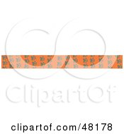Royalty Free RF Clipart Illustration Of A Border Of Animal Paw Prints On Orange by Prawny