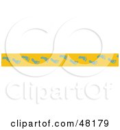Royalty Free RF Clipart Illustration Of A Border Of Blue Foot Prints On Yellow