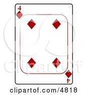 Four4 Of Diamonds Playing Card