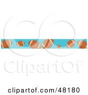 Royalty Free RF Clipart Illustration Of A Border Of American Footballs by Prawny