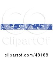 Royalty Free RF Clipart Illustration Of A Border Of Snowflakes by Prawny