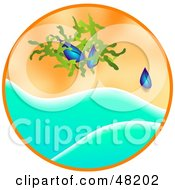Royalty Free RF Clipart Illustration Of Mussels Washed Up On A Beach by Prawny