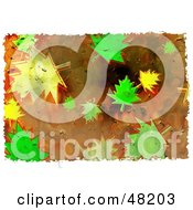 Royalty Free RF Clipart Illustration Of A Grungy Background Of Leaves by Prawny