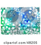Royalty Free RF Clipart Illustration Of A Grungy Background Of Snowflakes