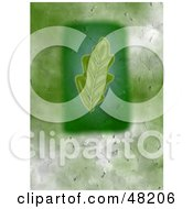 Royalty Free RF Clipart Illustration Of A Textured Oak Leaf Background by Prawny
