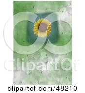 Royalty Free RF Clipart Illustration Of A Textured Sunflower Background by Prawny
