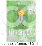 Royalty Free RF Clipart Illustration Of A Textured Sunflower Background