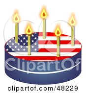 Royalty Free RF Clipart Illustration Of A Patriotic American Flag Birthday Cake
