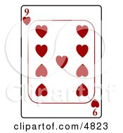 Nine9 Of Hearts Playing Card