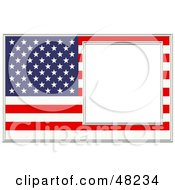 Royalty Free RF Clipart Illustration Of An American Frame With A White Box by Prawny